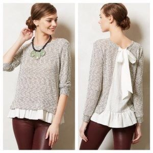 Anthro Clu + Willoughby Tie Back Top S